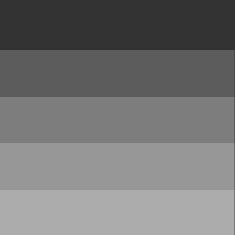 Grå/sorte toner